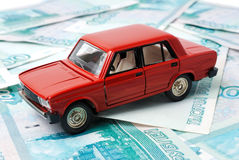 Car and money Royalty Free Stock Photos