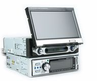 Car monitor and dvd player Stock Images