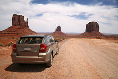 Car in Monument Valley, Navajo Tribal Park Stock Image