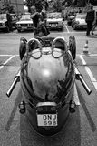 Car Morgan, rear view, V-Twin three-wheelers Stock Photography