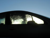 Car in the morning. With moisture on the windows Royalty Free Stock Photo