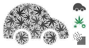 Car Collage of Marijuana vector illustration