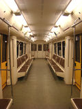 The car of the Moscow underground. One of last models of the car of the Moscow underground stock photo