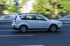 Car in motion. Transport. Traffik Royalty Free Stock Photo