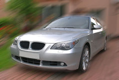 Car in motion stock photography
