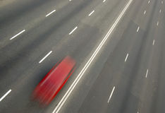 Car with motion blur Royalty Free Stock Photo