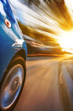 Car with motion blur background Royalty Free Stock Photo