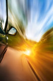 Car with motion blur background. Royalty Free Stock Image