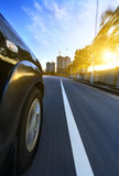 Car with motion blur background. Car on the road with motion blur background Stock Photo