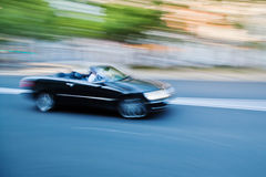 Car in motion blur Stock Photo