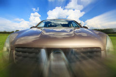 Car in motion blur speed field Royalty Free Stock Photo