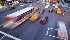 Car motion blurred Royalty Free Stock Image