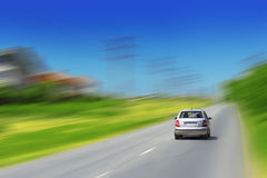 Car in motion Royalty Free Stock Image