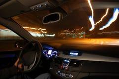 car motion night Στοκ εικόνες με δικαίωμα ελεύθερης χρήσης