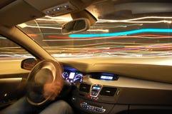 car motion night Στοκ Φωτογραφίες