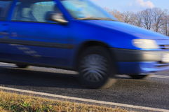 The car in motion. Stock Image
