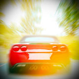 Car in the motion Stock Images