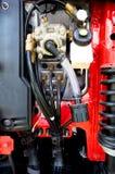 Car motor. Of a red car Royalty Free Stock Photos