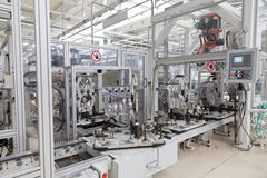 Car motor production line Royalty Free Stock Image
