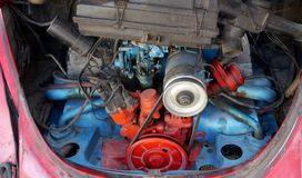 Car Motor technic engine. And motorparts Royalty Free Stock Photography