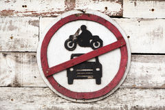 Car and motorbike sign Stock Photo