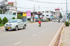 Car and motorcycle traffic, Vientiane Stock Photos