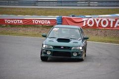 Car motosport photos. This photos show cars racing on a local street racing circuit stock photography