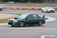 Car motosport photos. This photos show cars racing on a local street racing circuit stock images