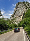 Car on the mountain road Stock Image