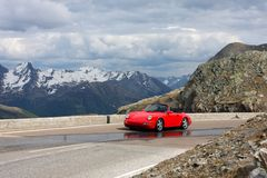 Car at the mountains Royalty Free Stock Photo