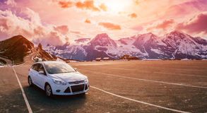 Car in the mountains Royalty Free Stock Images