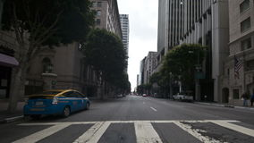 Car Mounted Camera Driving on Downtown Los Angeles Time Lapse. Shot with a Nikon D300s Photo Sequence stock footage