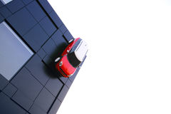 Car mounted on the wall, MINI Stock Image