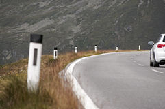 Car on moutain road Royalty Free Stock Photography
