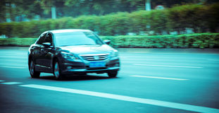 The car on the move Royalty Free Stock Photography