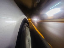 Car movement at night. This image taken during car movement where the camera attached to the side of the car royalty free stock photos