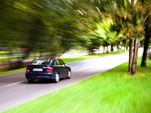 Car moves on road Royalty Free Stock Photo