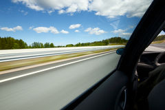 Car moving fast Royalty Free Stock Photo