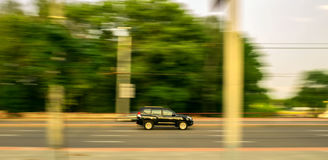 Car moving on the road Royalty Free Stock Image
