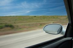 Car moving at speed Stock Photo