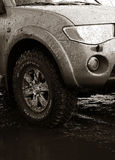 Car with Mud-terrain wheels Stock Image