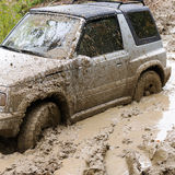 Car in mud Royalty Free Stock Photos