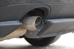 A car muffler. A close up of a car muffler Stock Image