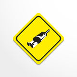 Car muffler. Vector illustration. Black and white image on a specific background Stock Image