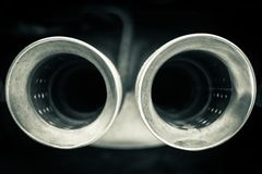 Free Car Mufflers Close Up Royalty Free Stock Photography - 114447227