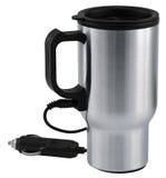 Car mug. Electric thermos mug for auto lighter royalty free stock photos