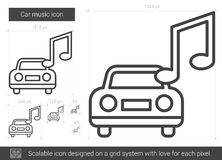 Car music line icon. Stock Photography
