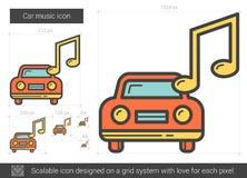 Car music line icon. Royalty Free Stock Photos