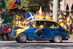Car at  National Day of Catalonia Royalty Free Stock Photo