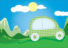 Car in nature clean energy Stock Photo
